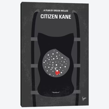 Citizen Kane Minimal Movie Poster Canvas Print #CKG468} by Chungkong Art Print