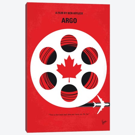 Argo Minimal Movie Poster Canvas Print #CKG469} by Chungkong Art Print