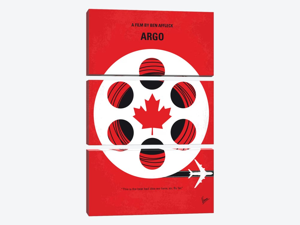 Argo Minimal Movie Poster by Chungkong 3-piece Canvas Art Print