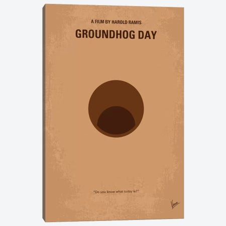 Groundhog Day Minimal Movie Poster Canvas Print #CKG46} by Chungkong Canvas Art