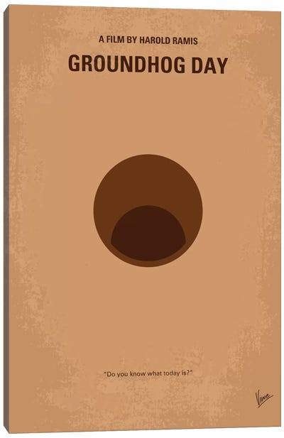 Groundhog Day Minimal Movie Poster Canvas Art Print