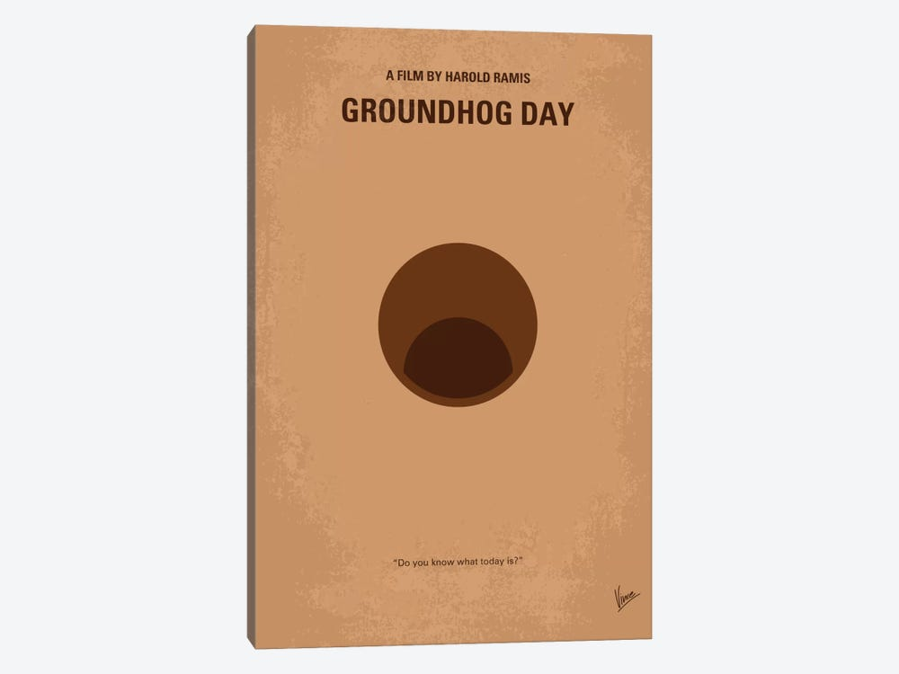 Groundhog Day Minimal Movie Poster by Chungkong 1-piece Art Print