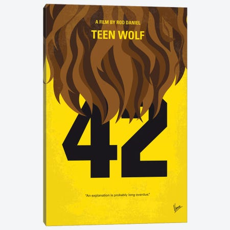 Teen Wolf Minimal Movie Poster Canvas Print #CKG470} by Chungkong Canvas Art
