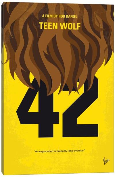 Teen Wolf Minimal Movie Poster Canvas Print #CKG470