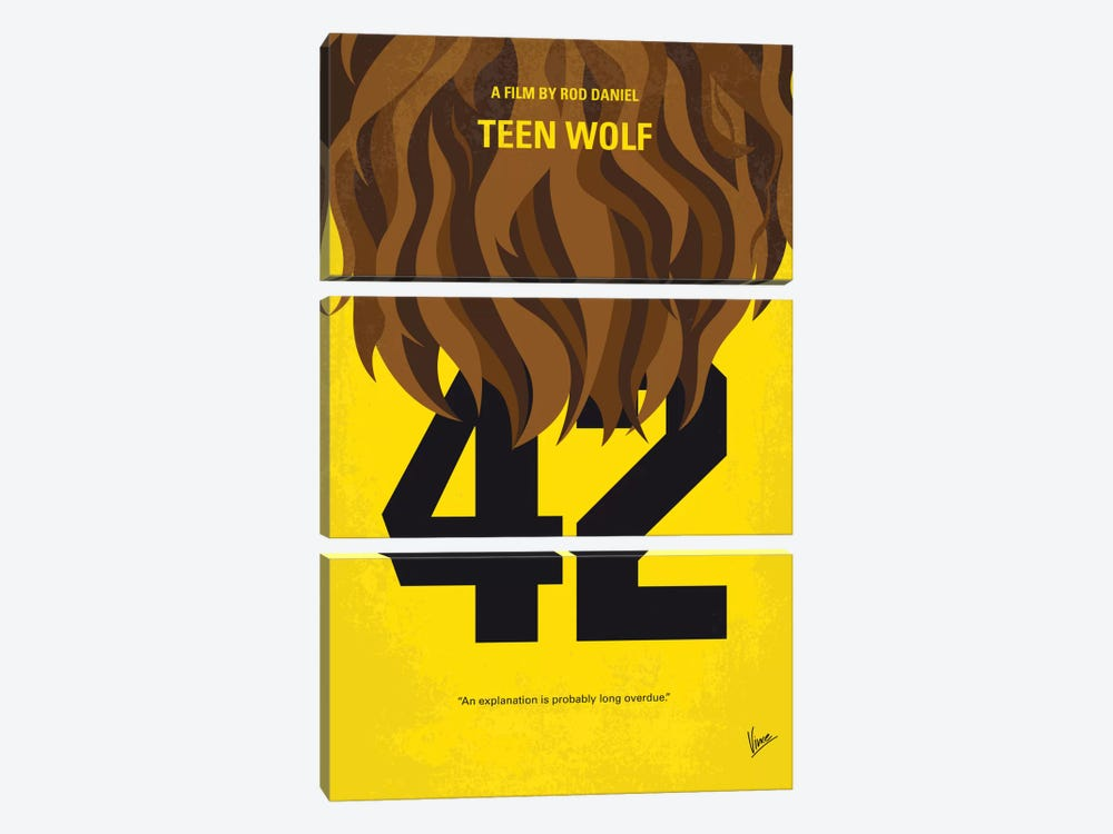 Teen Wolf Minimal Movie Poster by Chungkong 3-piece Art Print