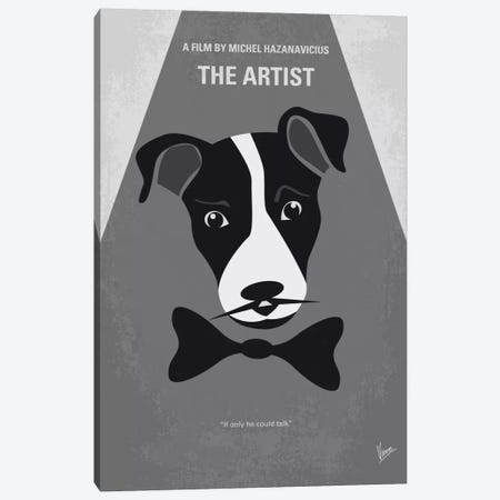 The Artist Minimal Movie Poster Canvas Print #CKG472} by Chungkong Canvas Wall Art
