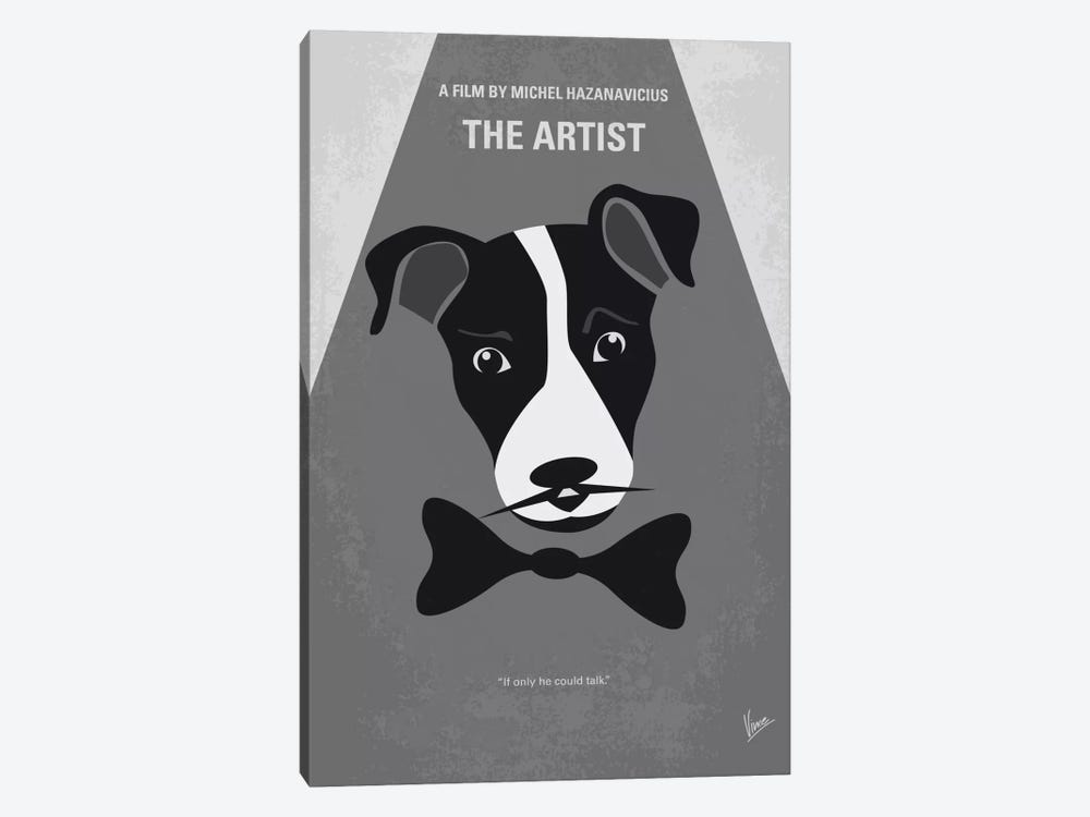 The Artist Minimal Movie Poster by Chungkong 1-piece Canvas Art Print