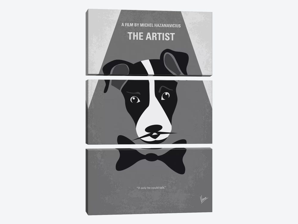 The Artist Minimal Movie Poster by Chungkong 3-piece Canvas Print