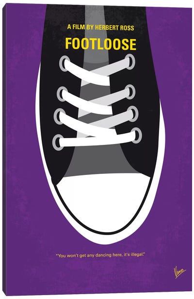 Footloose Minimal Movie Poster Canvas Art Print