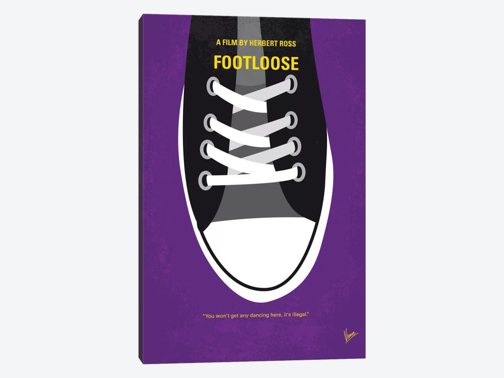 Footloose Minimal Movie Poster by Chungkong 1-piece Canvas Art