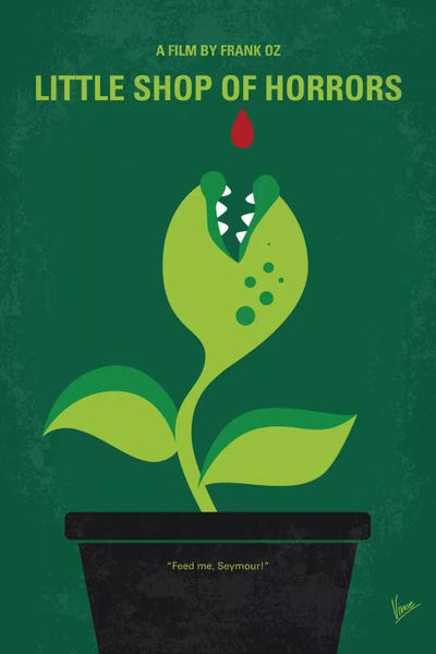 little shop of horrors minimal movie poster canvas