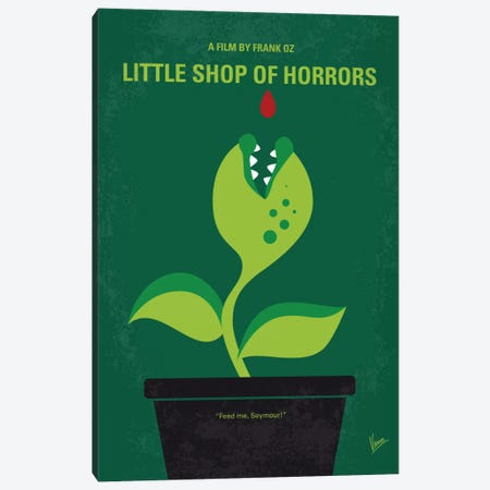 Little Shop Of Horrors Minimal Movie Poster Canvas Print #CKG474} by Chungkong Canvas Print