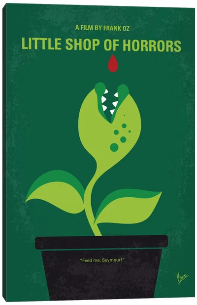 Little Shop Of Horrors Minimal Movie Poster Canvas Print #CKG474