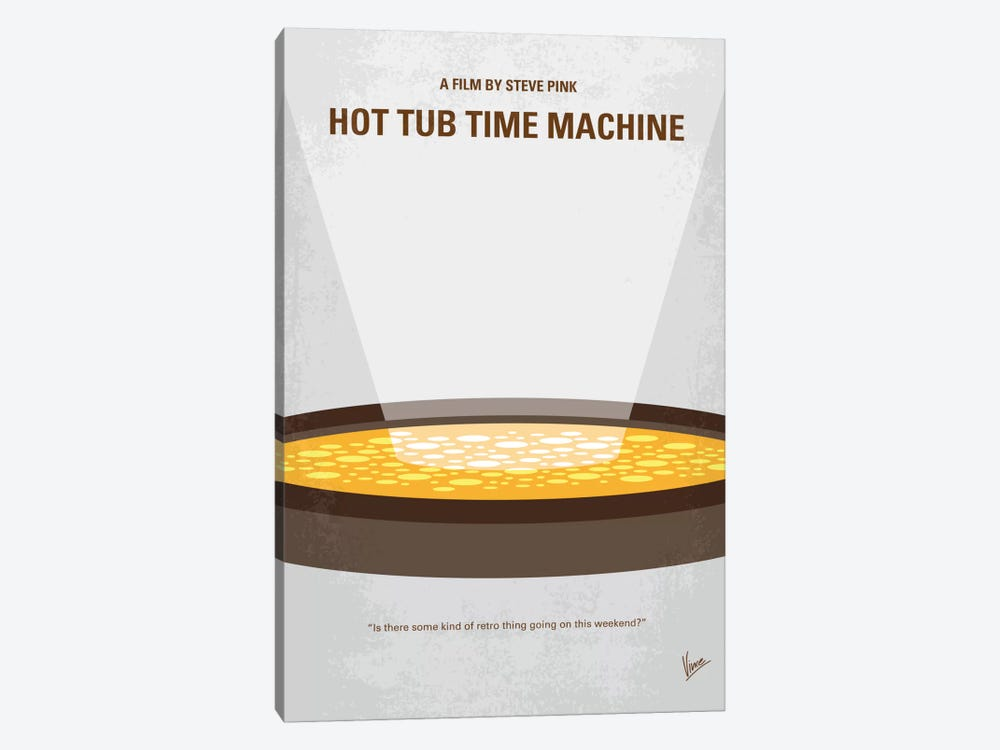 Hot Tub Time Machine Minimal Movie Poster by Chungkong 1-piece Canvas Wall Art