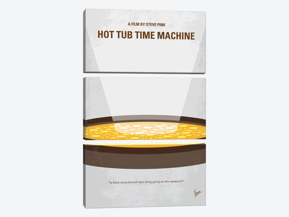 Hot Tub Time Machine Minimal Movie Poster by Chungkong 3-piece Canvas Artwork