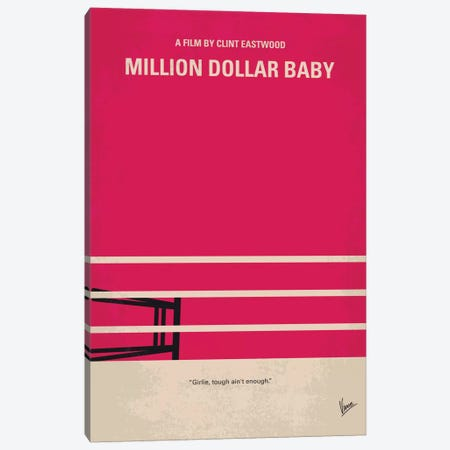 Million Dollar Baby Minimal Movie Poster Canvas Print #CKG476} by Chungkong Art Print