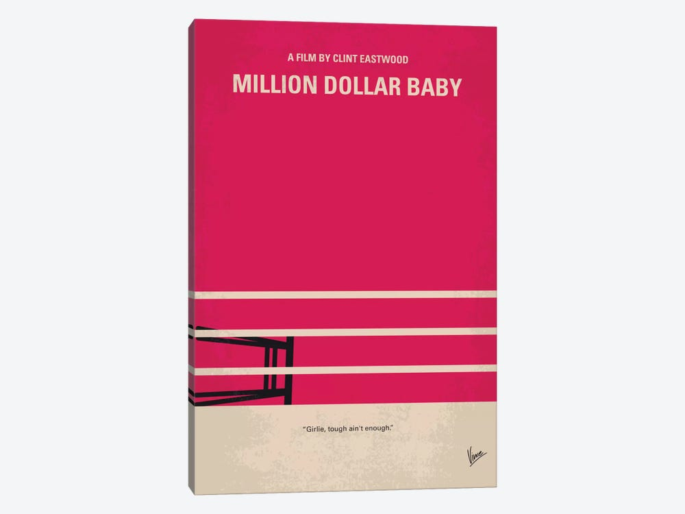 Million Dollar Baby Minimal Movie Poster by Chungkong 1-piece Canvas Print