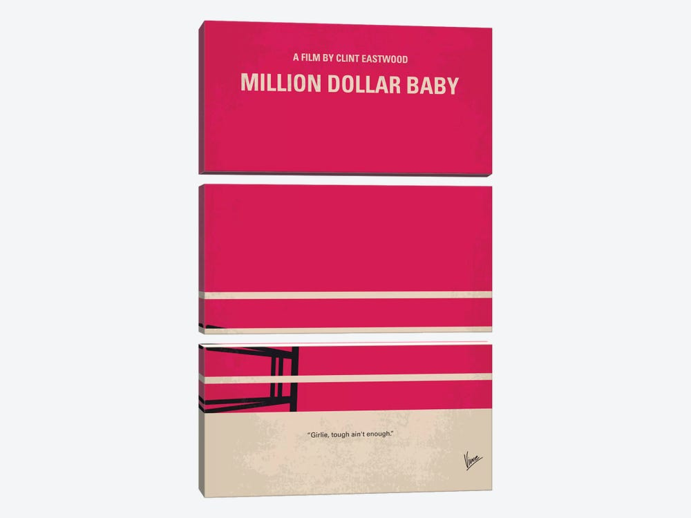 Million Dollar Baby Minimal Movie Poster by Chungkong 3-piece Art Print