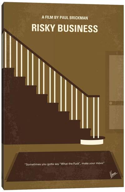 Risky Business Minimal Movie Poster Canvas Print #CKG478