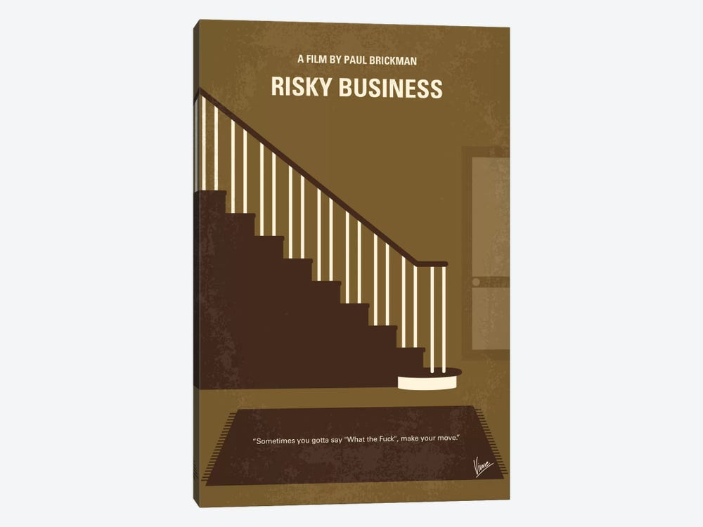 Risky Business Minimal Movie Poster by Chungkong 1-piece Art Print