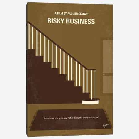 Risky Business Minimal Movie Poster 3-Piece Canvas #CKG478} by Chungkong Canvas Artwork