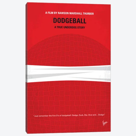 Dodgeball Minimal Movie Poster Canvas Print #CKG480} by Chungkong Art Print