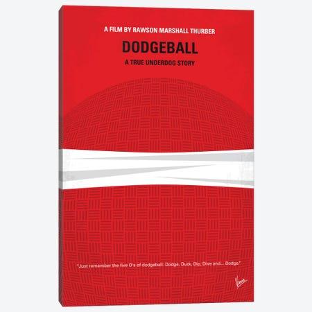 Dodgeball Minimal Movie Poster Canvas Print #CKG480} by Chungkong Art Print