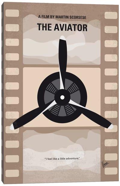 The Aviator Minimal Movie Poster Canvas Print #CKG481