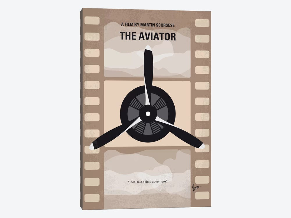 The Aviator Minimal Movie Poster 1-piece Canvas Print