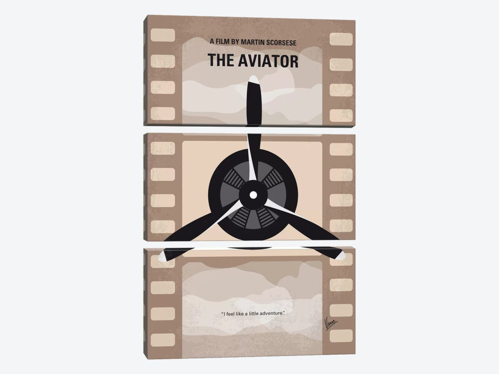 The Aviator Minimal Movie Poster 3-piece Canvas Print