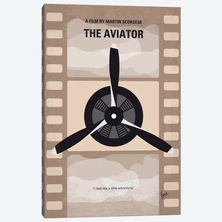 The Aviator Minimal Movie Poster Canvas Print #CKG481} by Chungkong Canvas Print