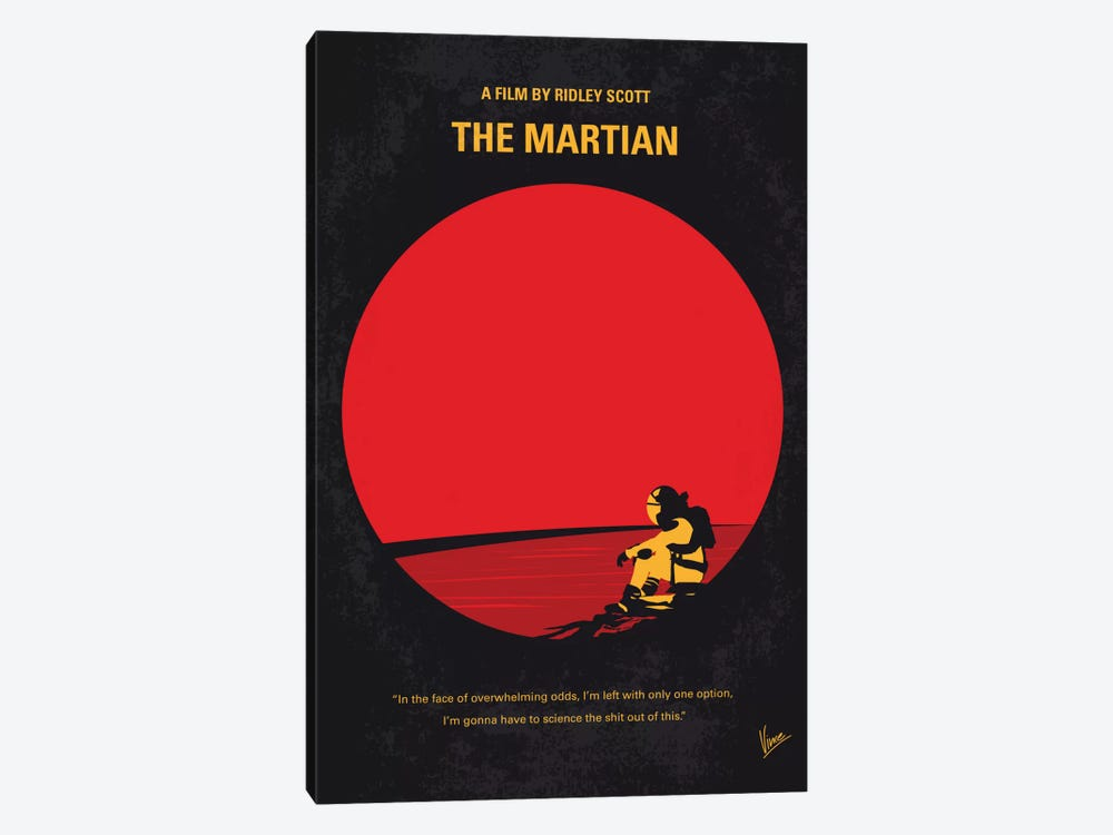 The Martian Minimal Movie Poster by Chungkong 1-piece Canvas Art