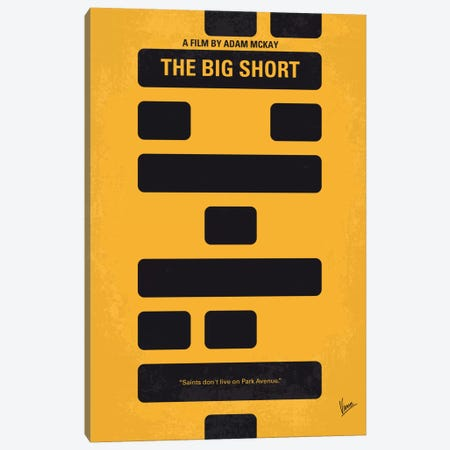 The Big Short Minimal Movie Poster Canvas Print #CKG483} by Chungkong Canvas Print