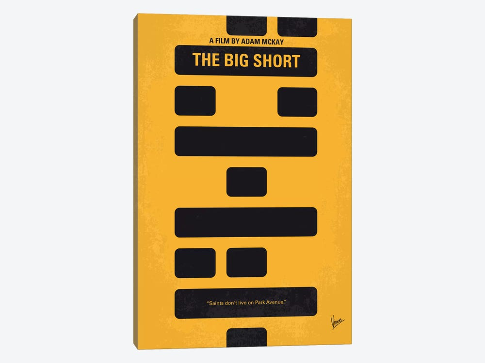 The Big Short Minimal Movie Poster by Chungkong 1-piece Canvas Art Print