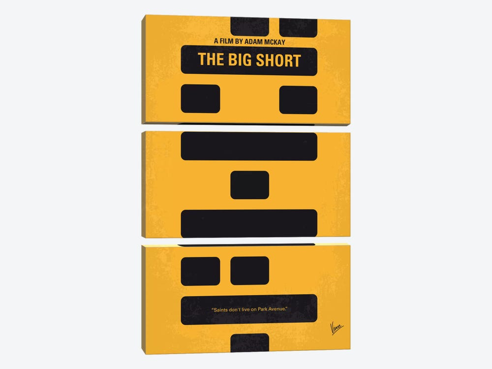 The Big Short Minimal Movie Poster by Chungkong 3-piece Canvas Art Print
