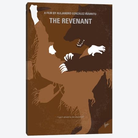 The Revenant Minimal Movie Poster Canvas Print #CKG484} by Chungkong Canvas Art