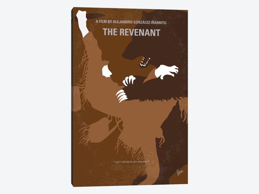 The Revenant Minimal Movie Poster 1-piece Canvas Wall Art