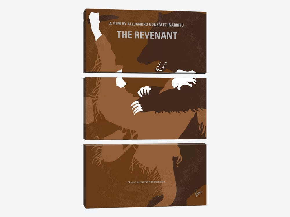 The Revenant Minimal Movie Poster by Chungkong 3-piece Canvas Artwork