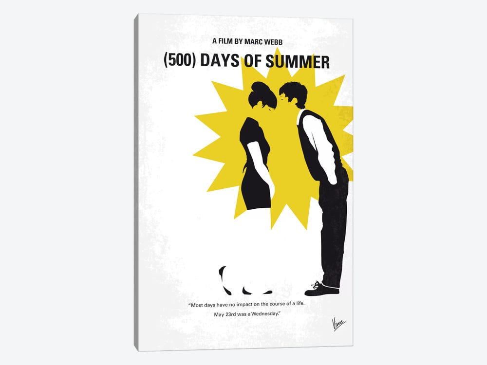 (500) Days Of Summer Minimal Movie Poster by Chungkong 1-piece Art Print