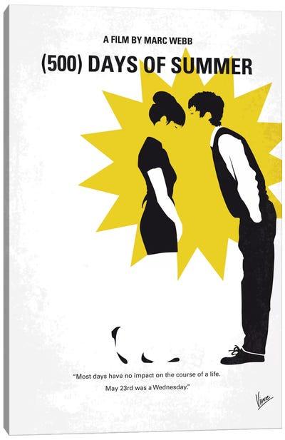 (500) Days Of Summer Minimal Movie Poster Canvas Art Print