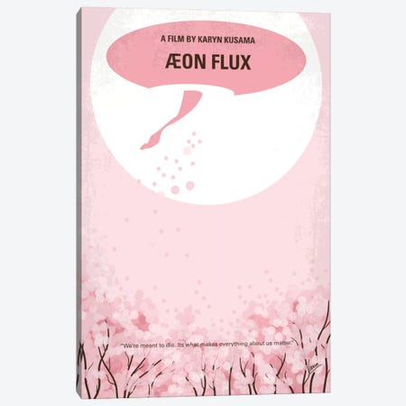 Aeon Flux Minimal Movie Poster Canvas Print #CKG486} by Chungkong Canvas Artwork