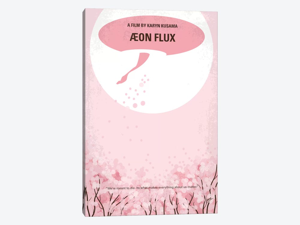 Aeon Flux Minimal Movie Poster by Chungkong 1-piece Canvas Artwork