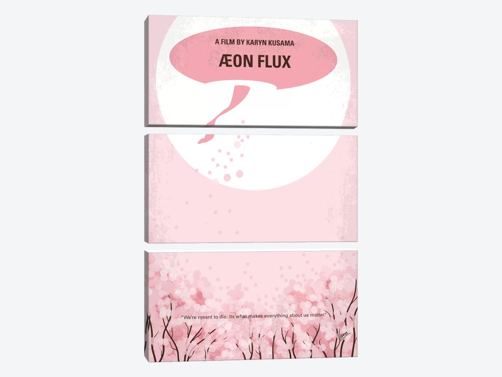 Aeon Flux Minimal Movie Poster by Chungkong 3-piece Canvas Wall Art