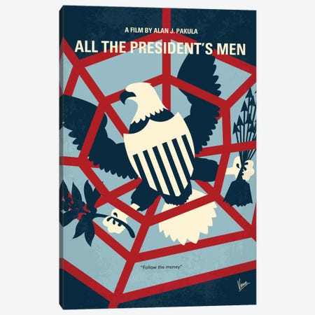 All The President's Men Minimal Movie Poster Canvas Print #CKG487} by Chungkong Canvas Wall Art