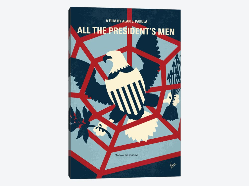 All The President's Men Minimal Movie Poster by Chungkong 1-piece Art Print