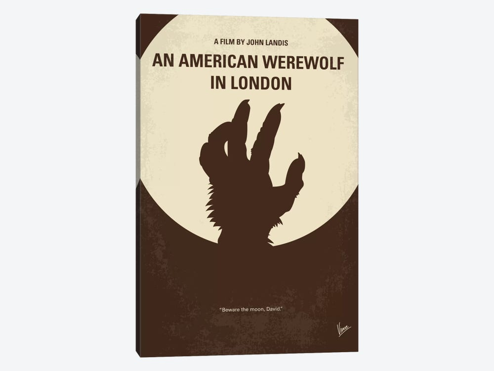 An American Werewolf In London Minimal Movie Poster by Chungkong 1-piece Canvas Wall Art