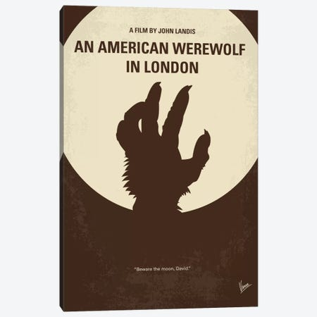 An American Werewolf In London Minimal Movie Poster Canvas Print #CKG488} by Chungkong Art Print