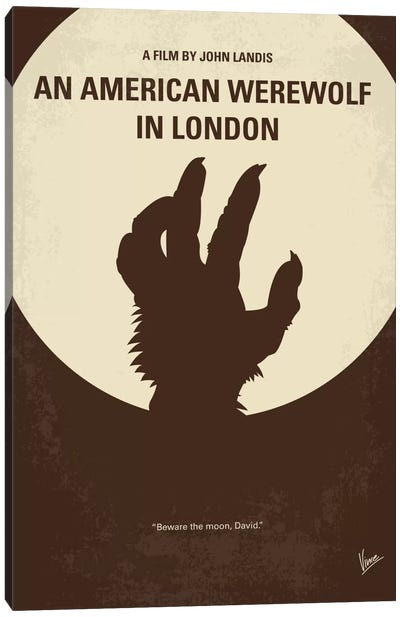 An American Werewolf In London Minimal Movie Poster Canvas Art Print