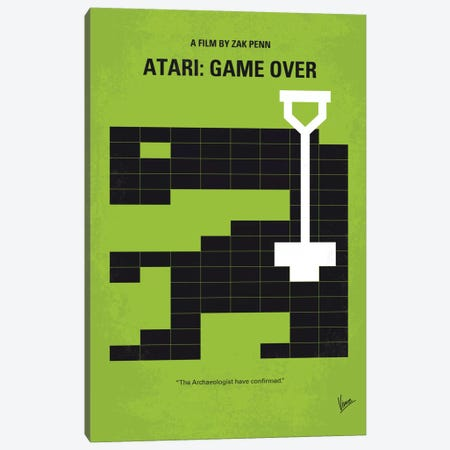 Atari: Game Over Minimal Movie Poster Canvas Print #CKG489} by Chungkong Canvas Print