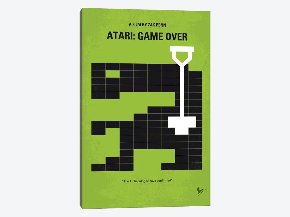 Atari: Game Over Minimal Movie Poster 1-piece Canvas Art Print
